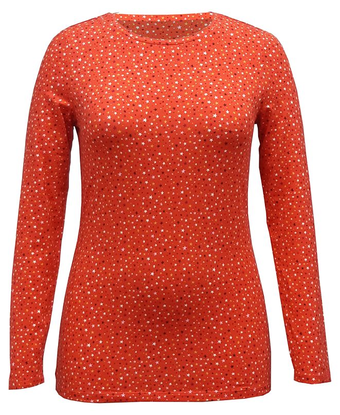 Style & Co Printed Long-Sleeve Top, Created for Macy's