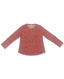 Printed Henley Shirt, Created for Macy's
