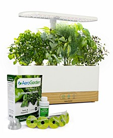 Harvest Slim Beechwood White with Gourmet Herbs Seed Pod Kit, Created for Macys