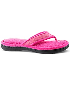 Isotoner Women's Microterry Jeana Thong Slippers