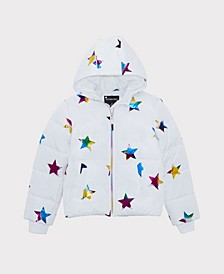 Big Girls Rainbow Star Jacket
