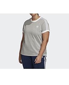Women's 3-Stripes Tee, Plus Size