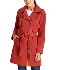 Asymmetrical Hooded Raincoat, Created for Macy's