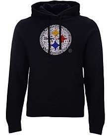 Pittsburgh Steelers Men's Distressed Logo Hoodie