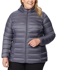 Plus Size Packable Down Hooded Puffer Coat, Created for Macy's