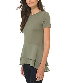 Layered-Hem Top