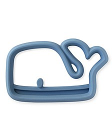 dnu-Teething Happens Silicone Teether, Whale