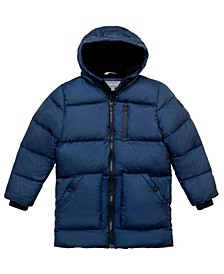 Big Boys Stadium Length Puffer Jacket