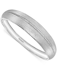EFFY® Diamond Satin Finish Bangle Bracelet (1/3 ct. t.w.) in Sterling Silver