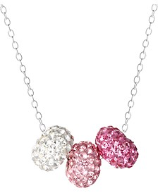 """Crystal Gumdrop Triple 18"""" Pendant Necklace in Sterling Silver, Created for Macy's"""