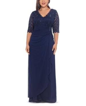 Plus Size V-Neck Gown