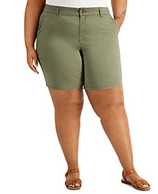 Plus Size Chino Shorts, Created for Macy's