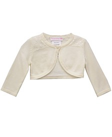 Baby Girls Cardigan with Lace Trim