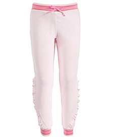 Little Girls Velour Ruffle Sweatpants, Created for Macy's