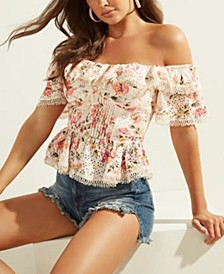 Isotta Ruffled Off-The-Shoulder Top