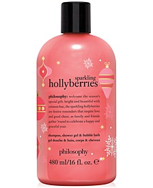 Sparkling Hollyberries Shampoo, Shower Gel & Bubble Bath, 16-oz.