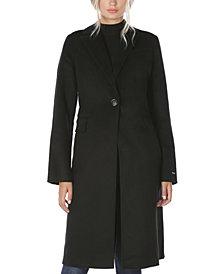 Tahari Single-Breasted Walker Coat