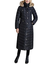 Faux-Fur Hooded Maxi Puffer Coat, Created for Macy's