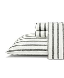 Twill Stripe 3 Piece Sheet Set, Twin XL