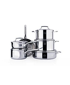 Selects Voyage Series Tri-Ply Stainless Steel 11-Pc. Cookware Set