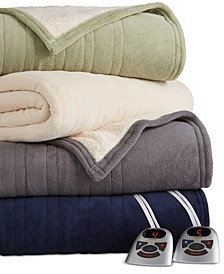 Microplush Reverse Faux Sherpa Electric Blanket Collection