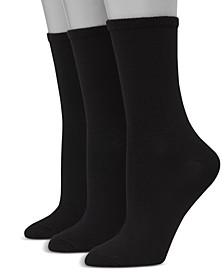 Women's Ultimate ComfortSoft 3pk Crew Socks, Extended Size