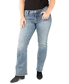 Plus Size Elyse Slim Bootcut Jeans