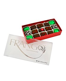 Holiday Deco Dark Mint 15 Piece Box of Chocolates