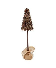 """22"""" Pinecone Tree In Burlap Bag"""