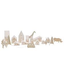 Paper Village Figurines Set of 18 Pieces