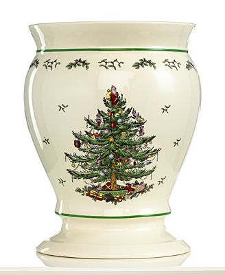 Closeout Spode Bath Accessories Christmas Tree Trash Can Bathroom Accessories Bed Bath