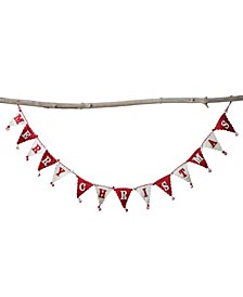 """72"""" Wool Felt Pennant Banner Shaped Garland with """"Merry Christmas"""""""