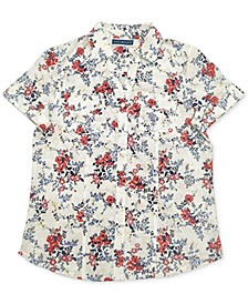 Petite Tuscan Garden Cotton Shirt, Created for Macy's