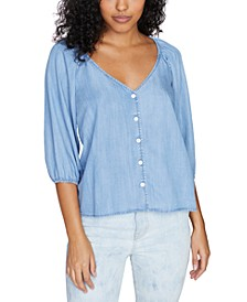 Modern Summer Button-Front Top