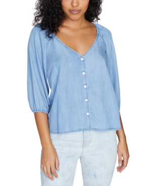Sanctuary MODERN SUMMER BUTTON-FRONT TOP