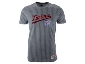 New Era Men's Minnesota Twins Pinstripe Crew Top Ii