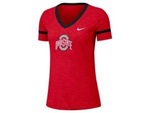 Nike Women's Ohio State Buckeyes Slub V-Neck T-Shirt
