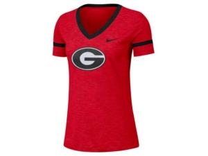Nike Women's Georgia Bulldogs Slub V-Neck T-Shirt
