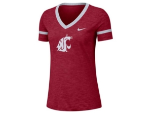 Nike Women's Washington State Cougars Slub V-Neck T-Shirt