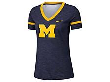 Michigan Women's Wolverines Slub V-neck T-Shirt