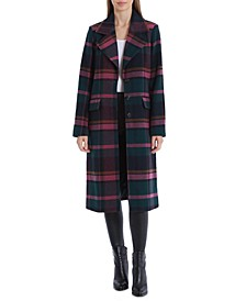 Plaid Walker Coat, Created for Macy's