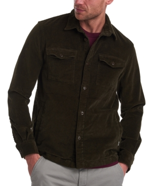 1950s Men's Shirt Styles – Dress Shirts to Casual Pullovers Barbour Mens Corduroy Overshirt $160.00 AT vintagedancer.com