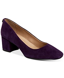 Saraa Block-Heel Pumps, Created for Macy's