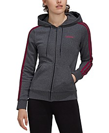 Women's Essentials 3-Stripe Zip Hoodie