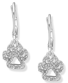 Pave Paw Drop Earring