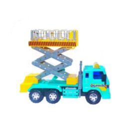 Mag-Genius Medium Duty Friction Powered Lift Bucket Truck Toy