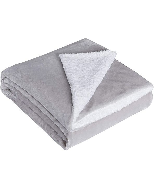 DreamLab Soft Sherpa Reversible Weighted Blanket Cover