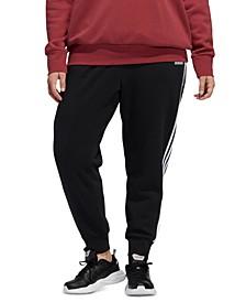 Plus Size 3-Stripes Fleece Jogger Pants
