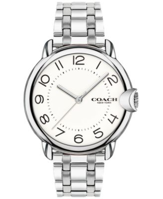 코치 여성 손목 시계 COACH Womens Arden Stainless Steel Bracelet Watch 36nn,Silver