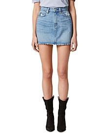 Viper Cotton Denim Mini Skirt